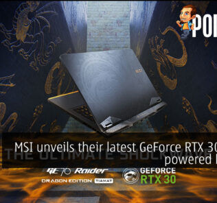 MSI GeForce RTX 30 series laptops cover