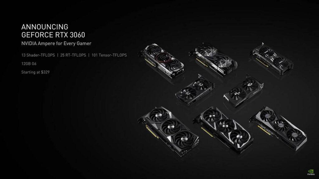 NVIDIA GeForce RTX 3060 cards
