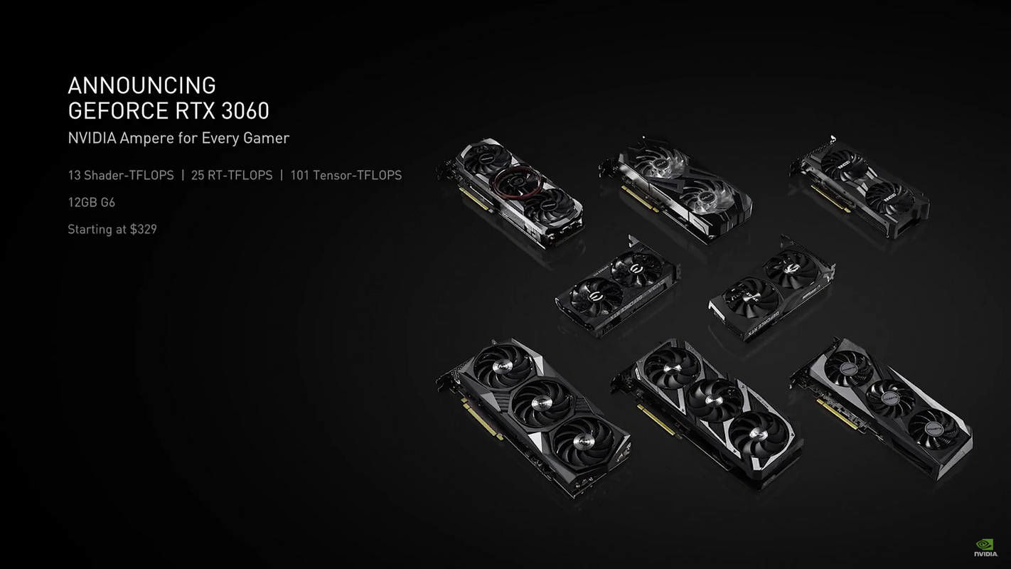 NVIDIA GeForce RTX 3060 cards