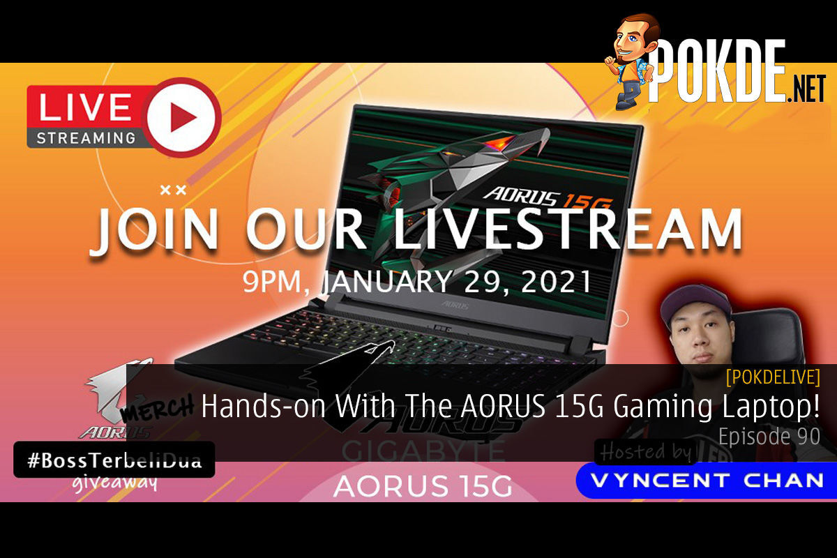 PokdeLIVE 90 — Hands-on With The AORUS 15G Gaming Laptop! 15