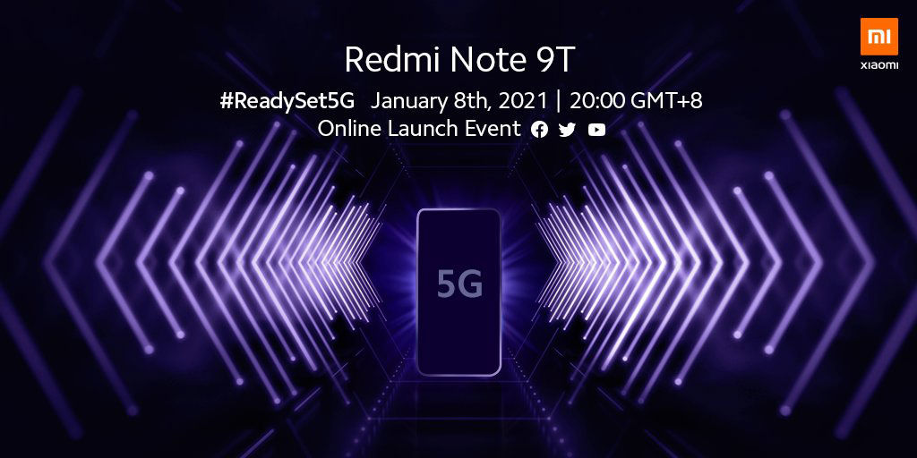 Redmi Note 9T launch teaser