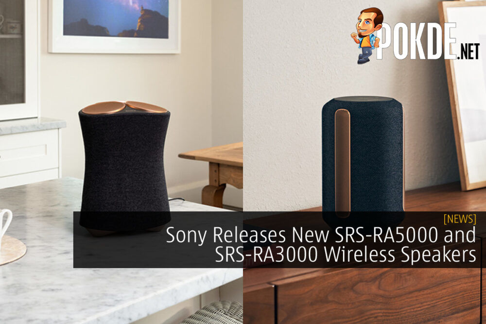 Sony SRS-RA5000 and SRS-RA3000 wireless speakers cover
