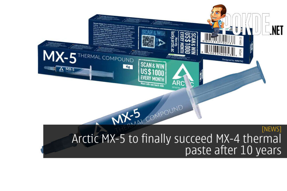 arctic mx-5 thermal paste cover