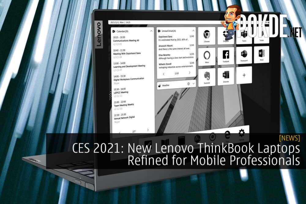 CES 2021: New Lenovo ThinkBook Laptops Refined for Mobile Professionals