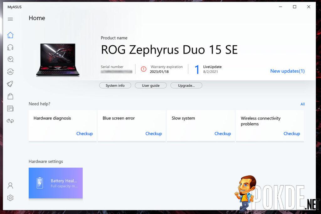 ASUS ROG Zephyrus Duo 15 SE review MyASUS