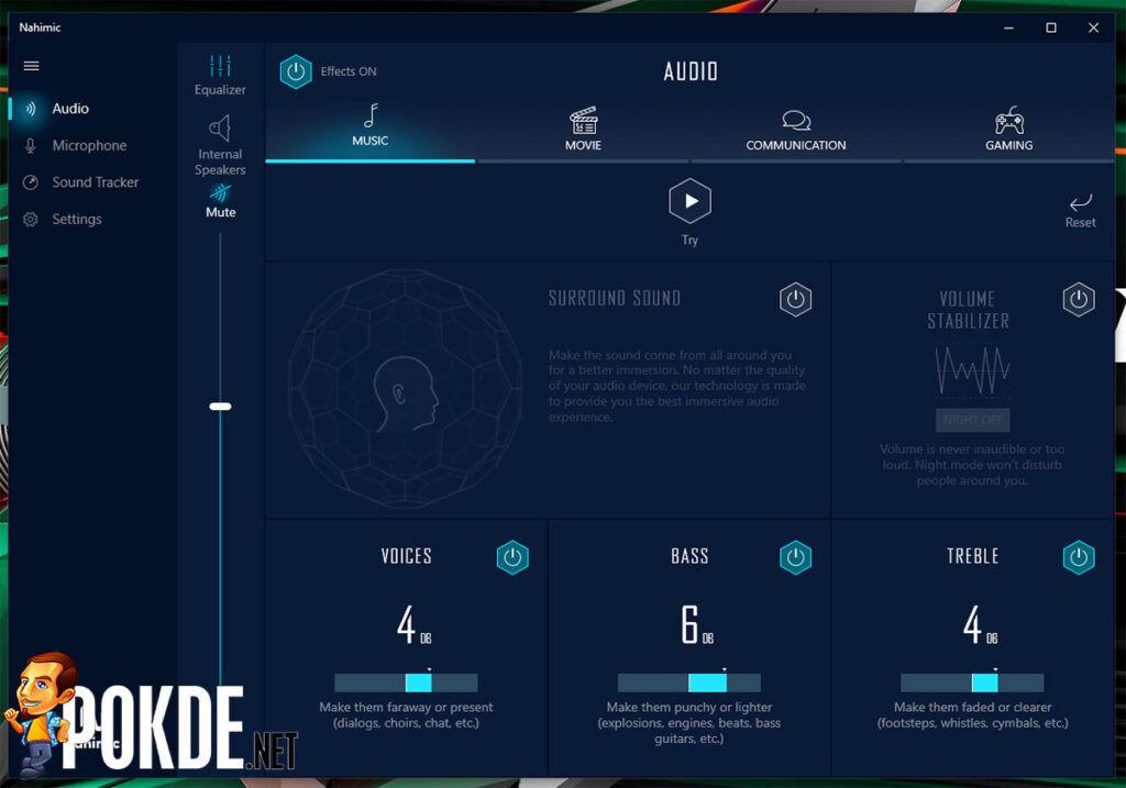 GIGABYTE AORUS 15G XC review Nahimic