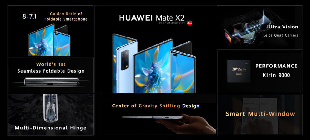 HUAWEI Mate X2 With Falcon Wing Design Unveiled 23