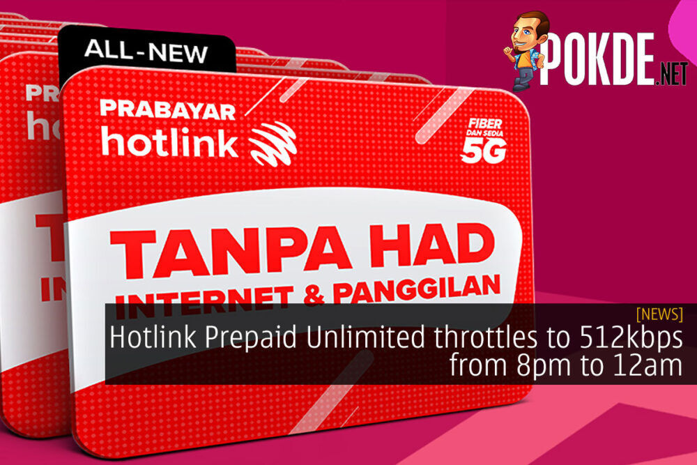 Hotlink Prepaid Unlimited throttle cover
