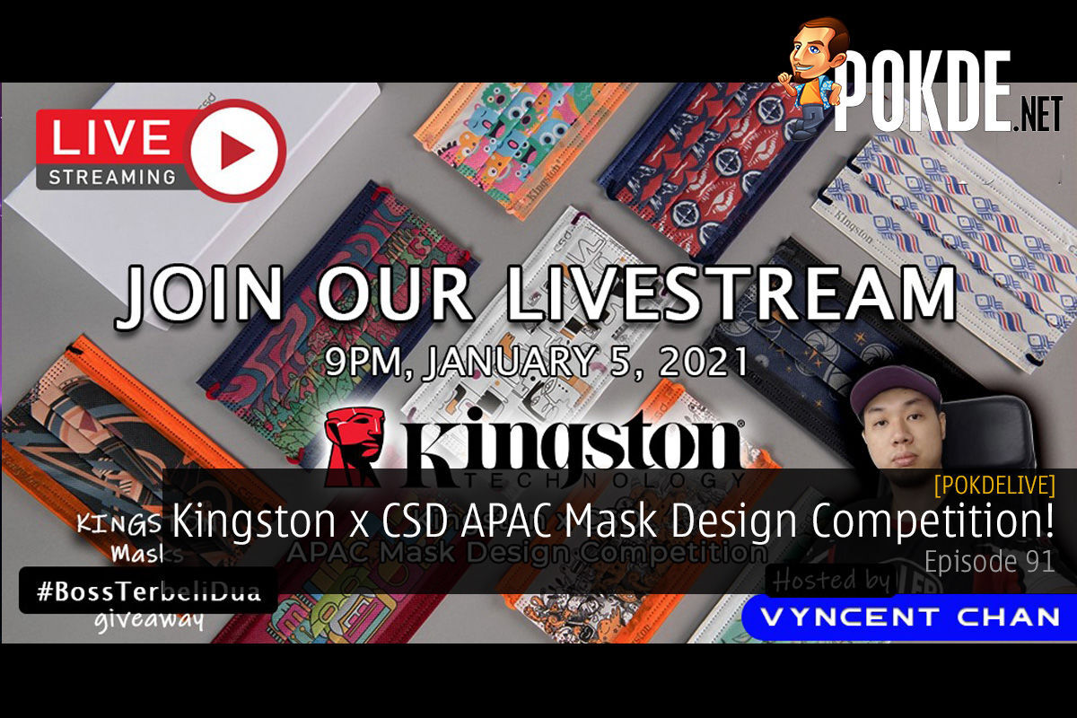 PokdeLIVE 91 — Kingston x CSD APAC Mask Design Competition! 8