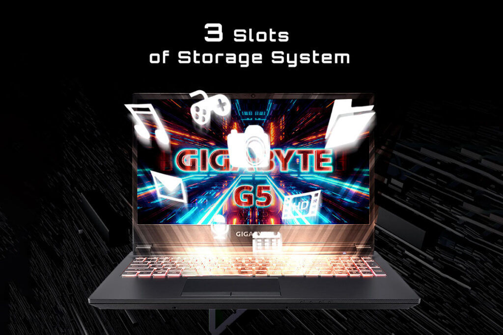 gigabyte g5 storage