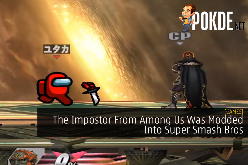 The Impostor From Among Us Was Modded Into Super Smash Bros