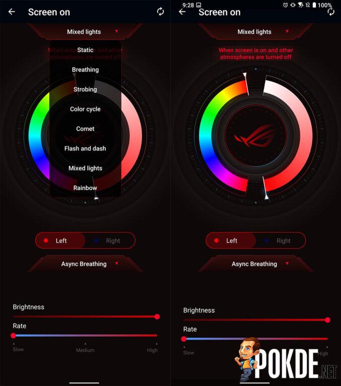 ASUS ROG Phone 5 review RGB settings