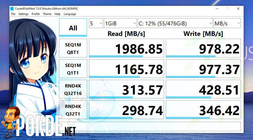 ASUS ZenBook Flip 13 OLED review CrystalDiskMark