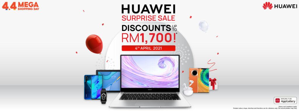 HUAWEI Shopee's 4.4 Mega Shopping Day