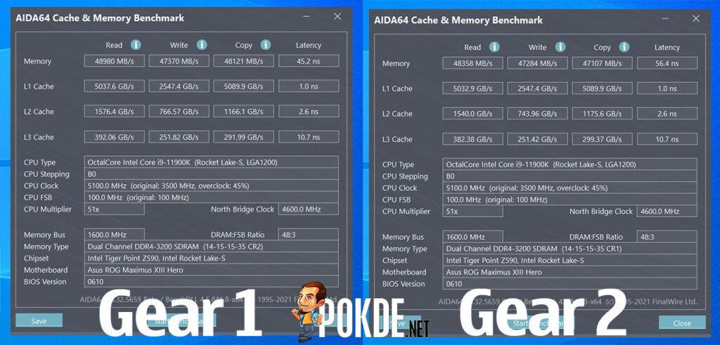 Intel Core i9-11900K review Gear 1 Gear 2
