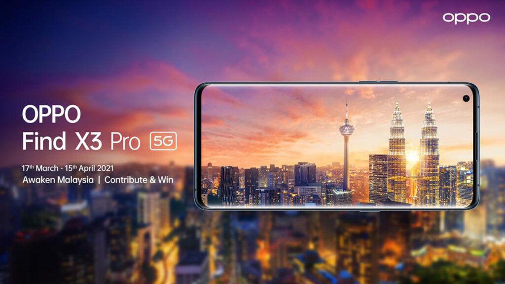 OPPO Find X3 Pro Awakening Malaysia contest