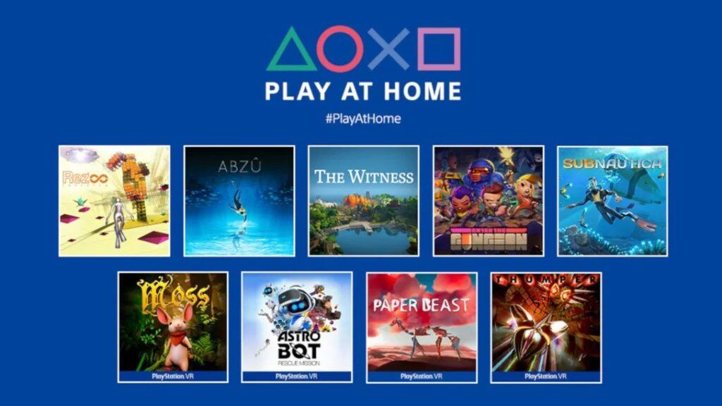 PlayStation is Giving Away 10 Free Games for Play At Home Initiative 20