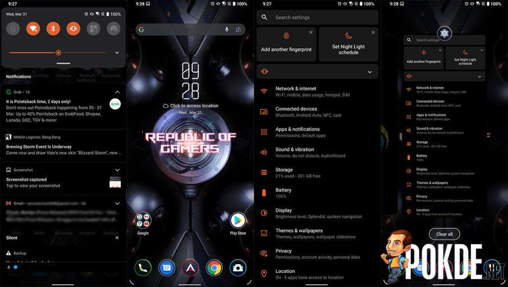 ASUS ROG Phone 5 review ROG UI
