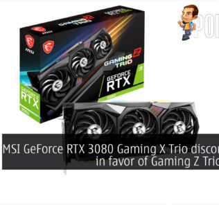 MSI GeForce RTX 3080 Gaming X Trio discontinued gaming z trio cover