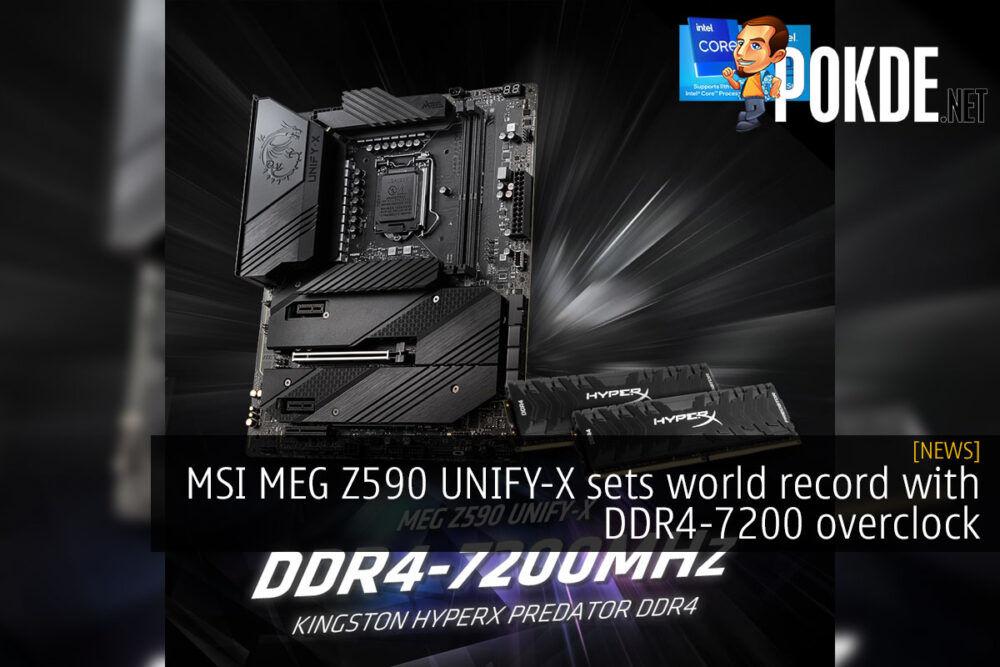 MSI MEG Z590 UNIFY-X DDR4-7200 world record cover