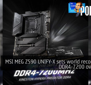 MSI MEG Z590 UNIFY-X DDR4-7200 world record cover