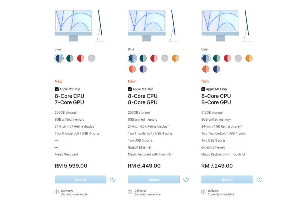 New iMac 2021 pricing