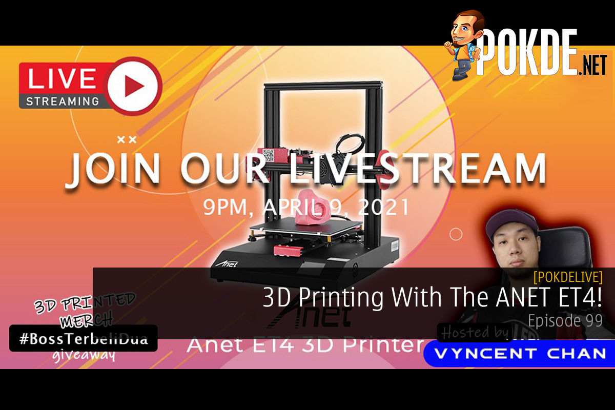 PokdeLIVE 99 — 3D Printing With The Anet ET4! 10