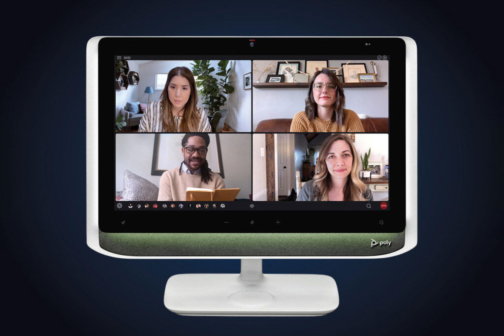 Poly Studio P21 video conferencing display