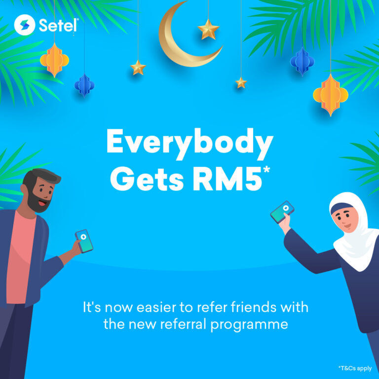 Setel app referral program