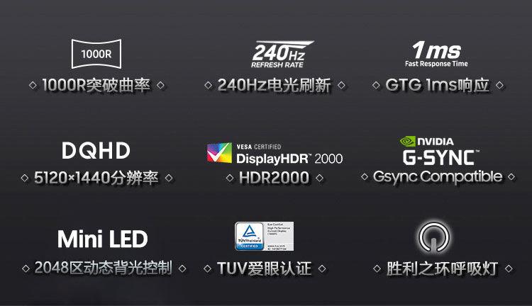 Samsung Odyssey G9 2021 features