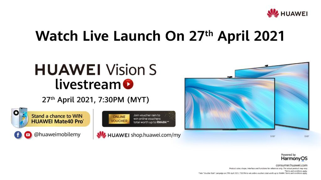 Watch The HUAWEI Vision S Livestream This 27 April And Win A HUAWEI Mate 40 Pro 27