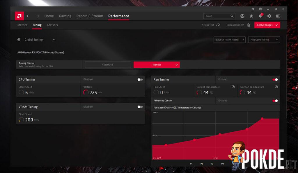 amd radeon software adrenalin 21.4.1 performance tuning