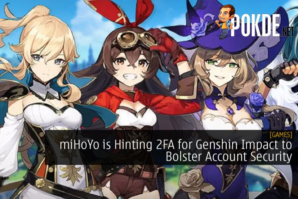 miHoYo is Hinting 2FA for Genshin Impact to Bolster Account Security