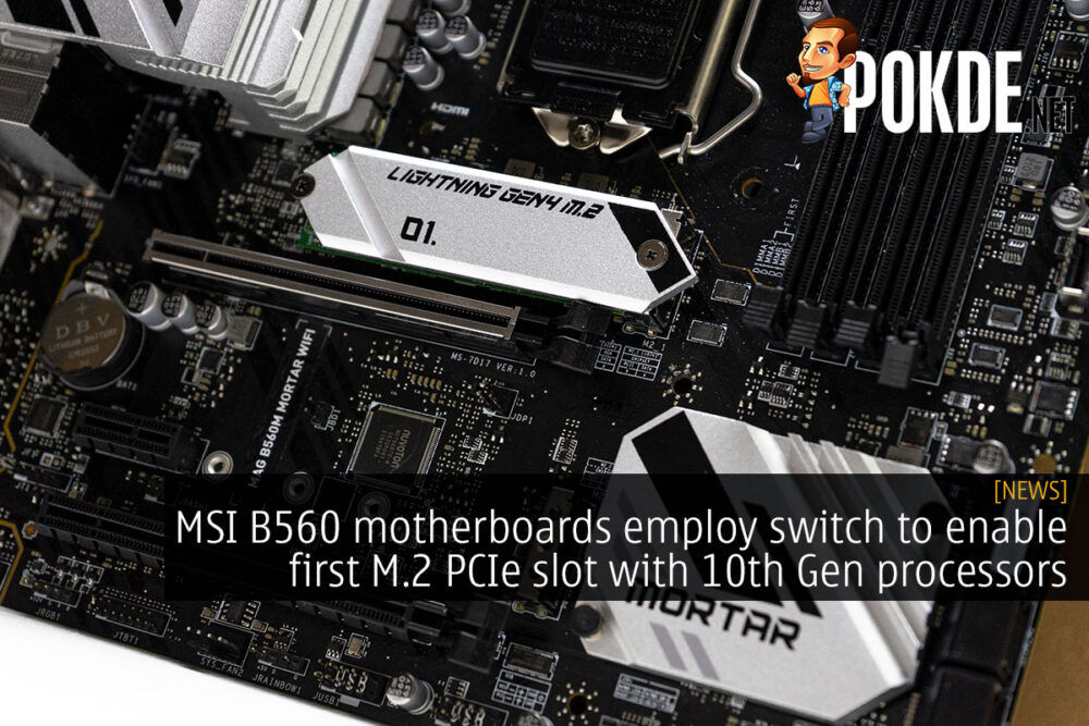 msi b560 first m.2 slot cover