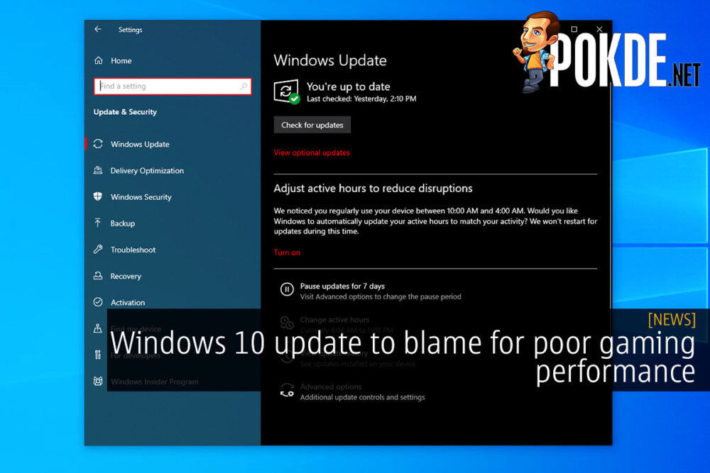 Windows 10 update to blame for poor gaming performance 19