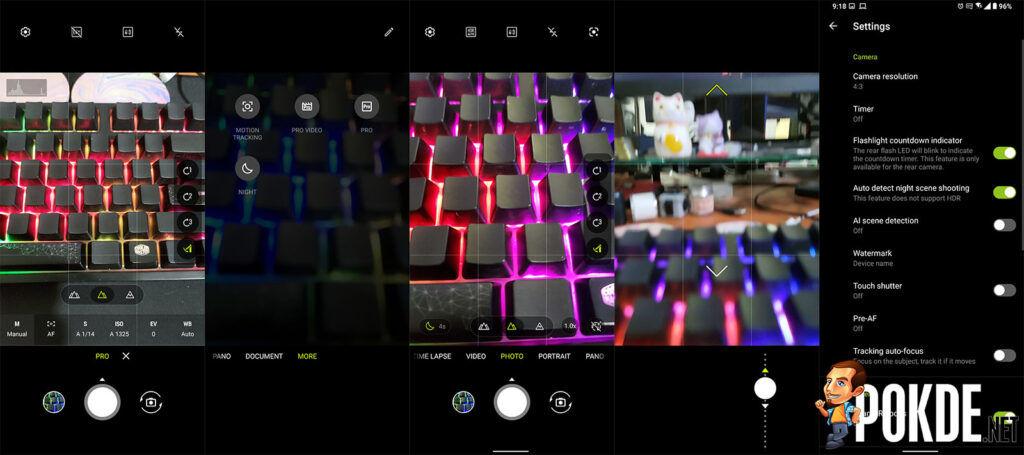ASUS ZenFone 8 Flip Review camera UI