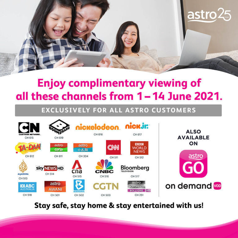 Astro Offers Free Viewing Of All Kids, News And BollyONE Channels This June 21