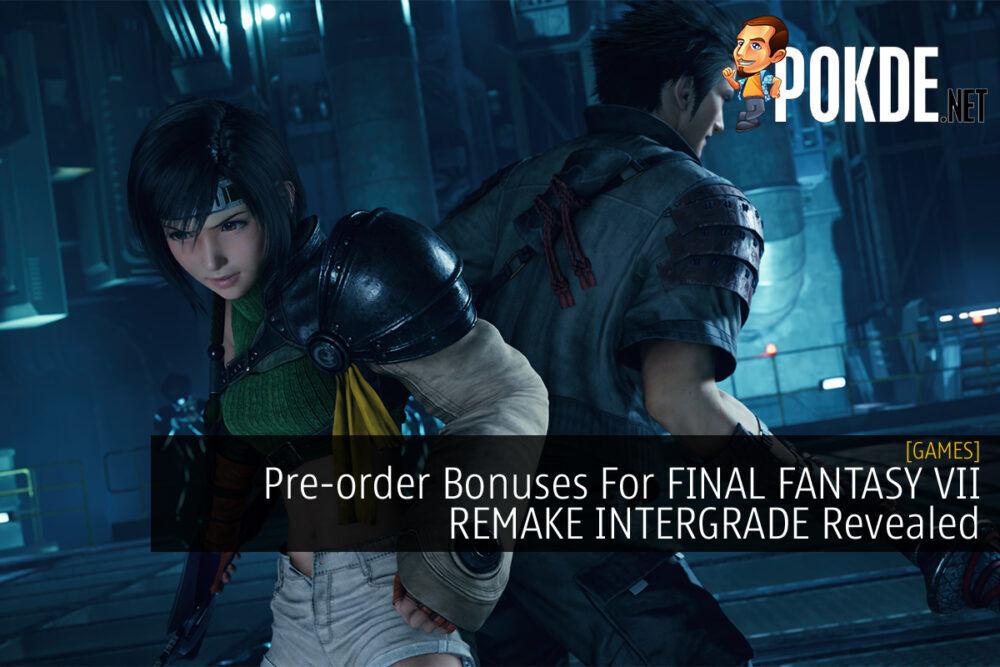FINAL FANTASY VII REMAKE INTERGRADE pre-order cover