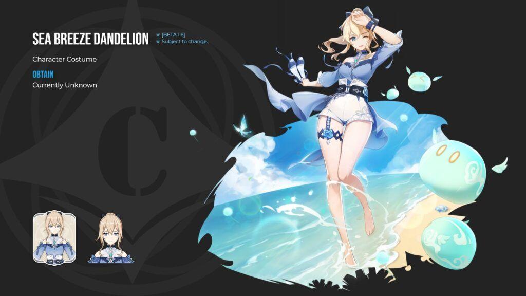 New Genshin Impact 1.6 Leak Reveals New Jean and Barbara Costumes