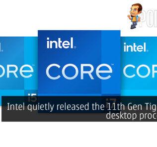 Intel 11th Gen Tiger Lake desktop cover