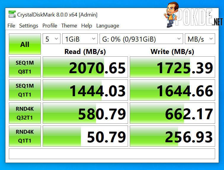 Kingston NV1 NVMe SSD 1TB Review CrystalDiskMark