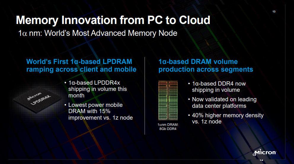 Micron 1a LPDDR4x DDR4