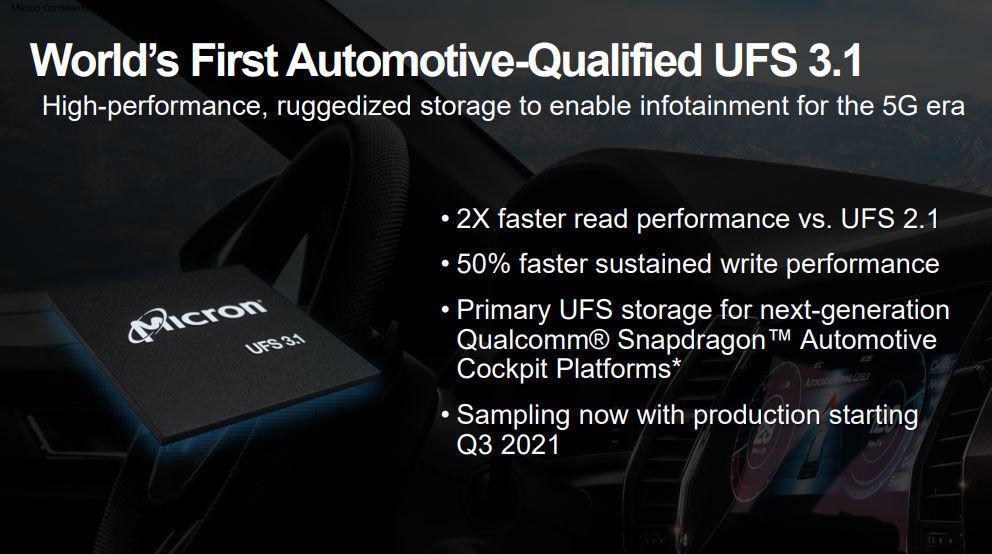 Micron automotive UFS 3.1