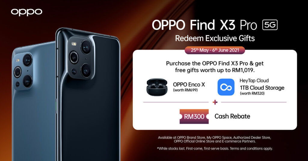 OPPO Malaysia OPPO Find X3 Pro offer