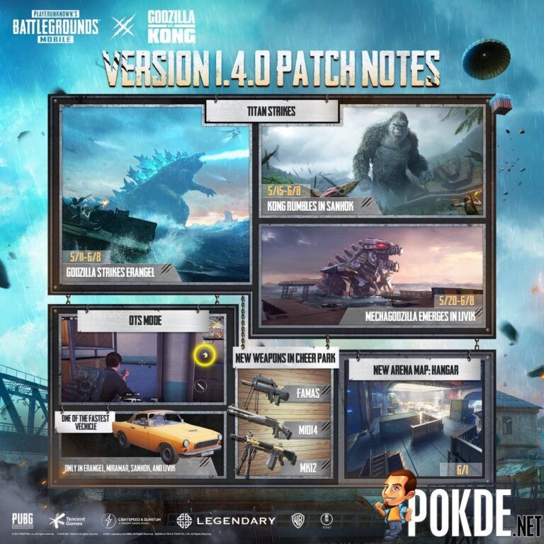 It's Godzilla vs Kong In The New PUBG MOBILE Update 1.4 23