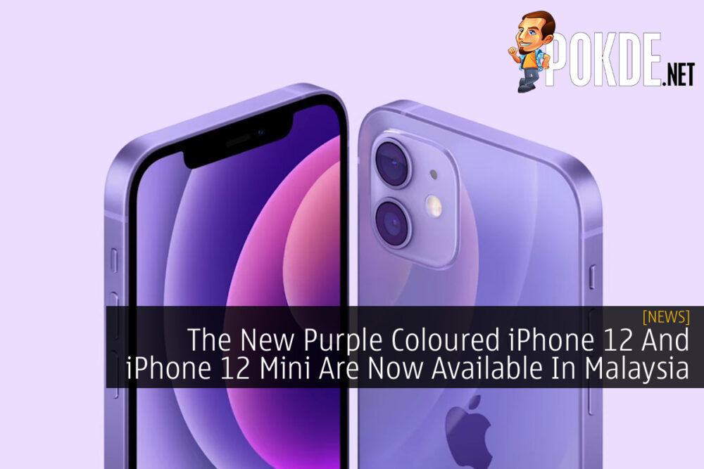 Purple iPhone 12 and iPhone 12 mini cover