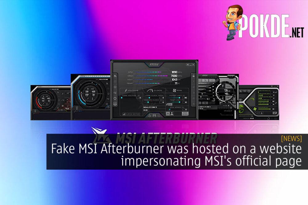 fake msi afterburner fake website cover