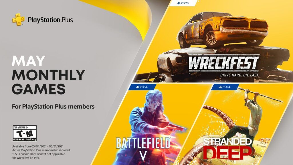PS Plus May 2021 FREE Games Lineup