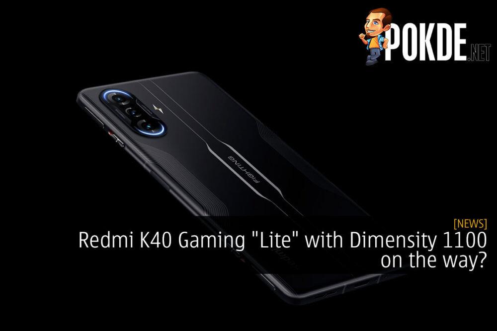 redmi k40 gaming lite dimensity 1100 leak cover