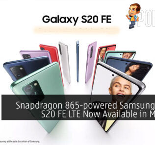 Snapdragon 865-powered Samsung Galaxy S20 FE LTE Malaysia